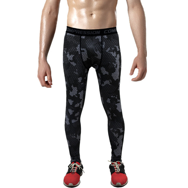 Mens Compression Pants 2016 New Crossfit Tights Men Bodybuilding Pants Trousers Camouflage Joggers 1