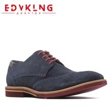 Edvklng мужская повседневная обувь Большие размеры удобные фирменные мужские туфли-оксфорды кожаные туфли