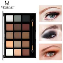 цена на MISS ROSE New 15 Color Eyeshadow Pearl Matte Eye Shadow Professional Pearly Makeup Multicolor Eye Shadow Makeup Set