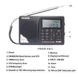 Image 2 - Портативный радиоприемник Tecsun PL 606 Digital PLL, стерео/LW/SW/MW приемник DSP, Интернет радио FM:64 108 МГц/LW: 153 513 кГц