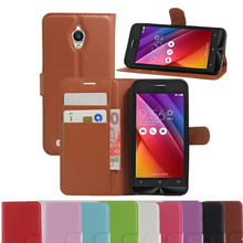 For ZenFone GO Vintage Wallet Leather Phone Case For Asus ZenFone GO ZC500TG Flip Cover Luxury Cases Coque Stand + 2 Card Slots
