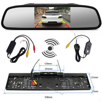 Car 5 Inch TFT LCD Color Monitor With Waterprtoof Rearview Camera And 2 4Ghz Wireless Set