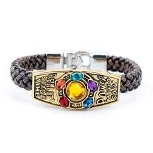 dongsheng The Soul Stone Avengers Infinity War Thanos Bracelet Gauntlet Power Bangle Hand knitting for Men Women Gift-2