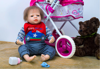 52cm Silicone Reborn Baby Doll kids Playmate Gift For Girls 16 Inch Baby Alive Soft Toys For Bouquets Doll bebes Reborn dollmai