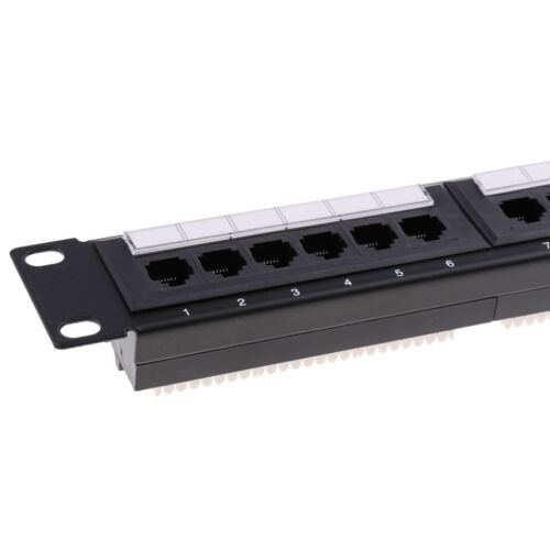 Image 5 - 24Port 19inch Cat6 RJ45 T568A T568B Data Network Rack Mount Patch Panel Frame Good quality-in Networking Tools from Computer & Office