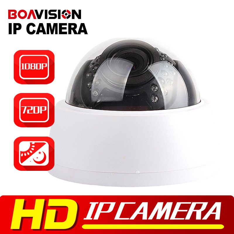 HD 720P 1080P Dome IP Camera 1MP/2MP ONVIF H.264 Indoor Use 30Pcs IR Night Vision 2.8-12mm VariFocal 4X Manual Zoom P2P Cloud 4pcs lot 960p indoor night version ir dome camera 4 in1 camera 3 6mm lens p2p onvif abs plastic housing