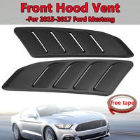 Front Hood Vent Fit For 2015 2017 For Ford For Mustang Panel Trim Black 2Pcs Universal Car Air Intake Scoop Bonnet Hood Vent
