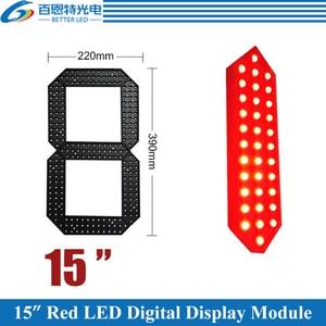 """Image 1 - 4 pçs/lote 15 """"cor vermelha ao ar livre 7 sete segmento led módulo de número digital para preço gás display led módulo"""