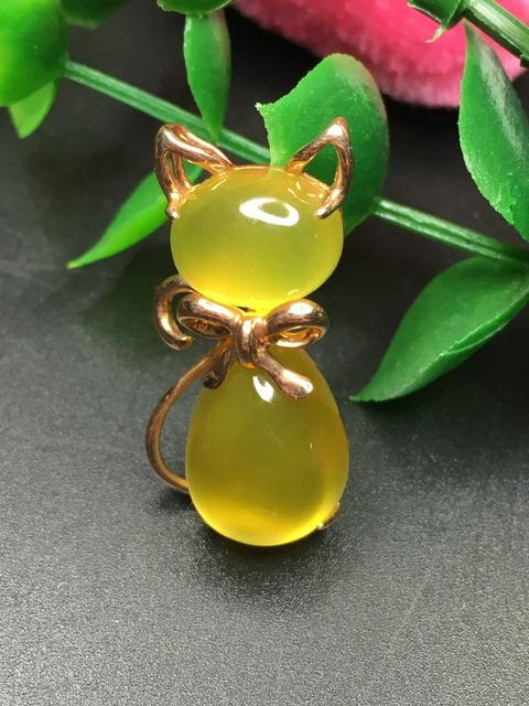Natural prehnite yellow gold pendant, 18K yellow gold, oval 8mm*10mm and pears 10mm*14mm, about 13mm*27mm for pendant size