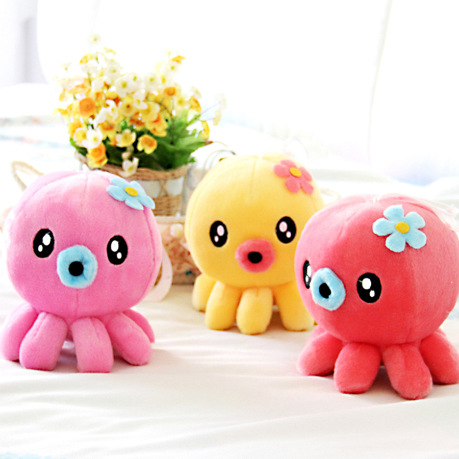 Wedding Colorful Mini Plush Toy Soft Doll Octopus Kids Cute Plush Toys Kawaii Deco Noel Small Toy Animals Children Gift 60A0711 cute bulbasaur plush toys baby kawaii genius soft stuffed animals doll for kids hot anime character toys children birthday gift