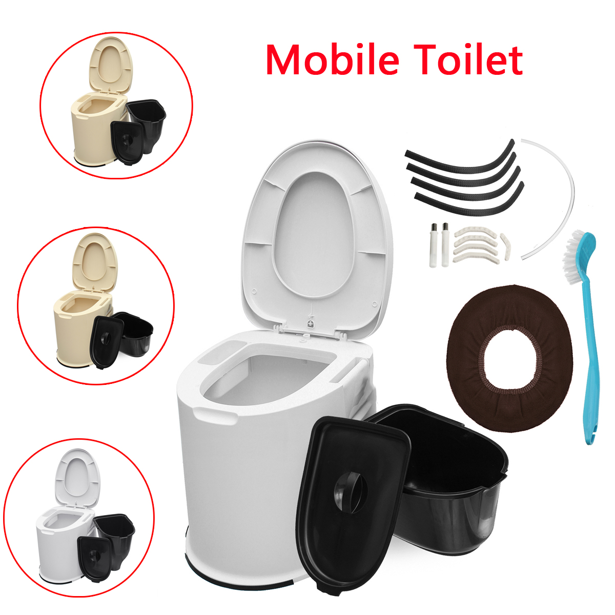 Portable Toilettes 12L Capacité Mobile Toilette Voyage Camping De Toilette Commode En Plein Air Compact Pot Toilettes Urine Dispositif