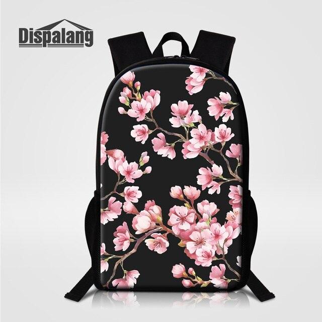 Women s Backpack Cherry Flower Printing School Bag For Teenage Girls Female  Travel Bagpack Lady Fashion Rucksack Knapsack Rugtas 91232e7349ff6