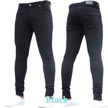 2018 New Fashion Blue Skinny Jeans Men Brand Slim Fit Cotton Denim Trousers Spijkerbroek Mannen Hip Hop Casual Thin Jeans Pants