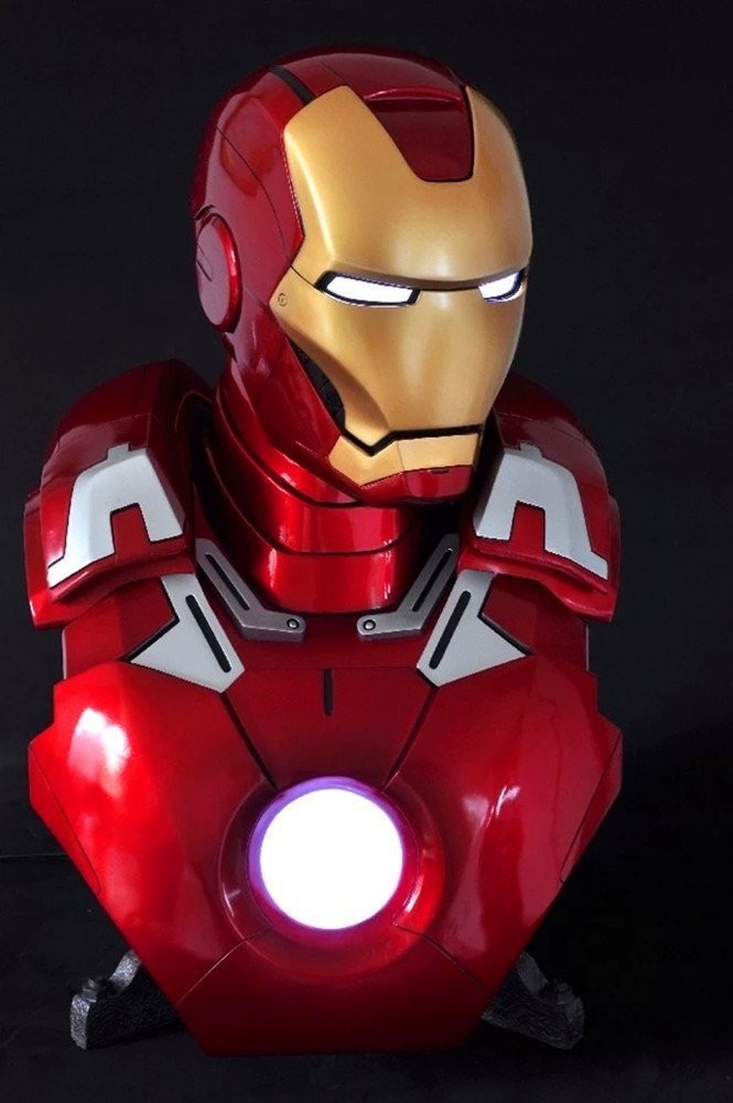 alliance 1:1 Iron Man bust MK7 bust Iron Man MK VII футболка с полной запечаткой printio spaces