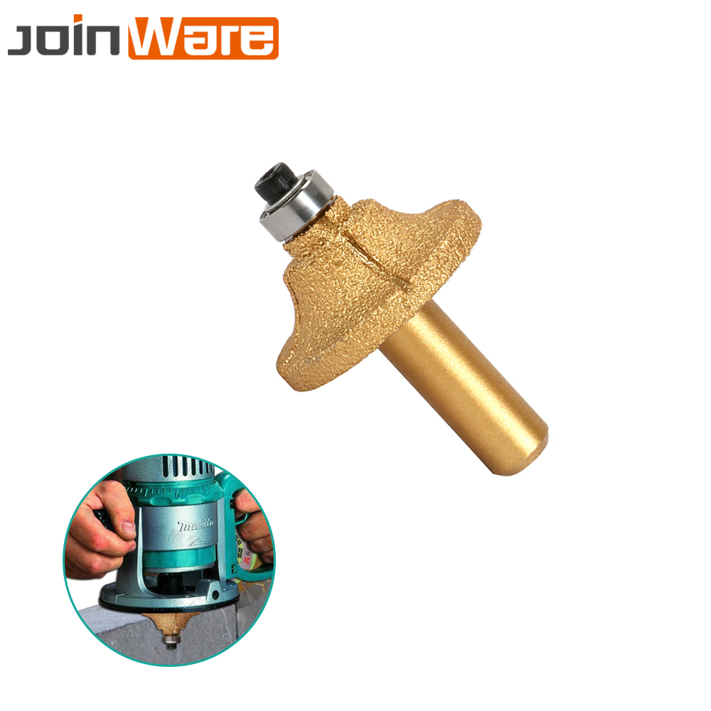 Abrasive Tools Realistic Vacuum Brazed Diamond Router Bits R15 43mm Bullnose Stone Granite Marble Slab Edge Profile Router Cutter With 1/2 Round Shank Always Buy Good