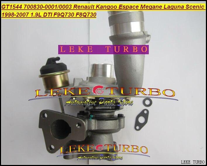 GT1544S 700830 700830-0001 700830-0003 53039700014 Turbo For Renault Kangoo Espace Megane Laguna Scenic 98- F9Q F8Q730 1.9L DTI garrett turbo uk gt1544s 700830 0001 700830 turbo exchange for renault megane scenic laguna espace clio 1 9 dti engine f9q f8q