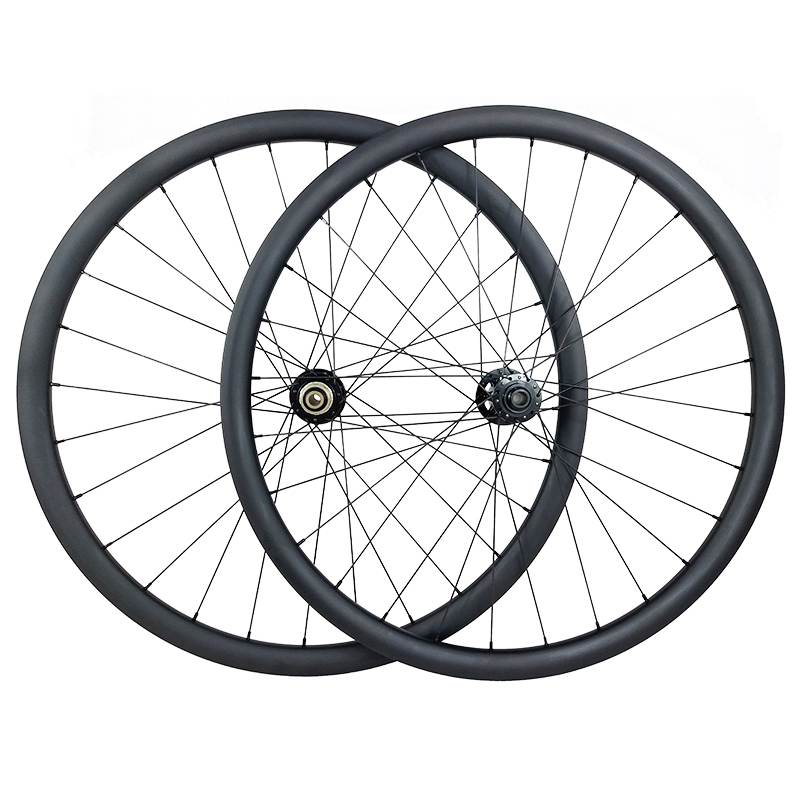 Cheap 29er MTB XC hookless racing carbon wheelset 30mm x 30mm UD matt Novatec D791SB D792SB