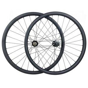 Image 1 - 29er MTB XC hookless racing carbon wheelset 30mm x 30mm UD matt Novatec D791SB D792SB tubeless woods gravel bicycle wheels