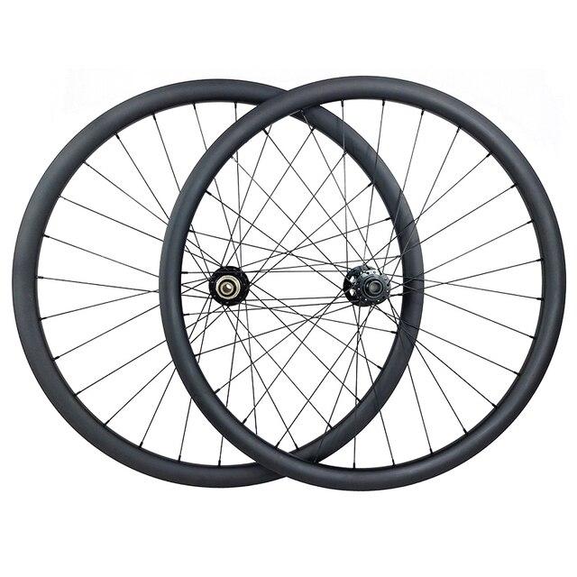 29er MTB XC hookless racing carbon wheelset 30mm x 30mm UD matt Novatec D791SB D792SB tubeless woods gravel bicycle wheels