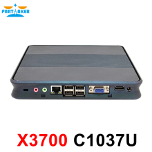 DC 12 V Mini PC Win 7/Win 8/Win 10/Linux Mini PC с Celeron 1037u процессора на борту, X86 Mini PC