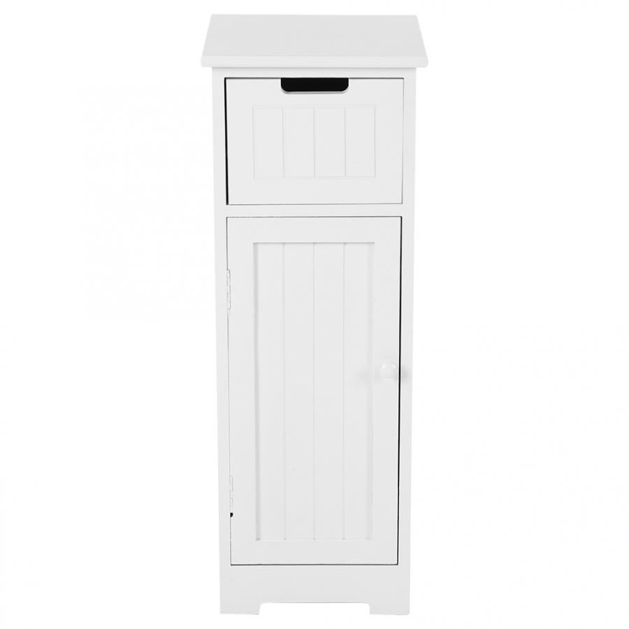 Bathroom Cabinet Standing Storage Cupboard Bathroom Furniture White 30*30*81.5CM Storage Cabinet