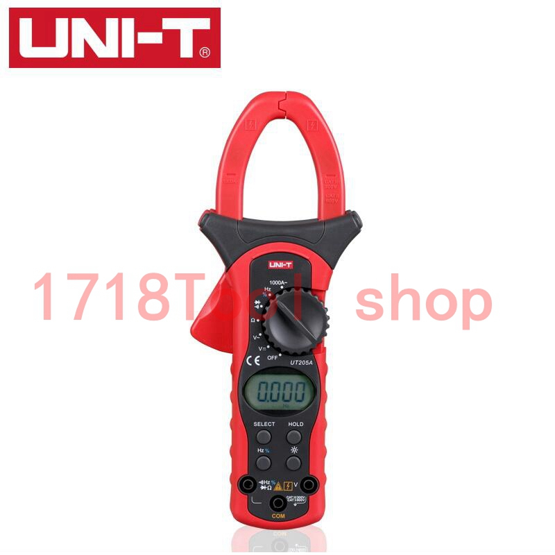 Uni-t UT205A LCD Digital Clamp meter Multimeters DC AC Volt Ampere Ohm Hz Auto Range Tester practical alternating direct clamp meter multimeters voltmet voltage tester