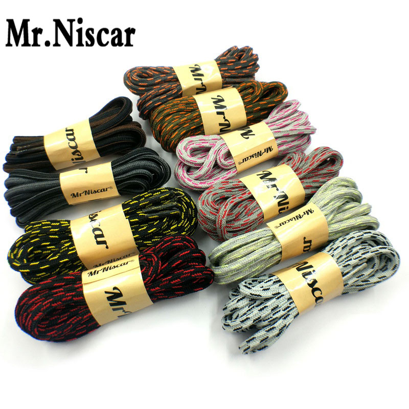 00237401d4daa 1 Pair Outdoor Sport Casual Multicolor Striped Square Shoelaces Hiking  Non-slip Rope Sneakers Skate
