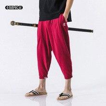 4 Colors Big Size M-5XL Male Fashion Casual Harem Pant 2017 Summer New Loose Short Pants China Style Men Trouser