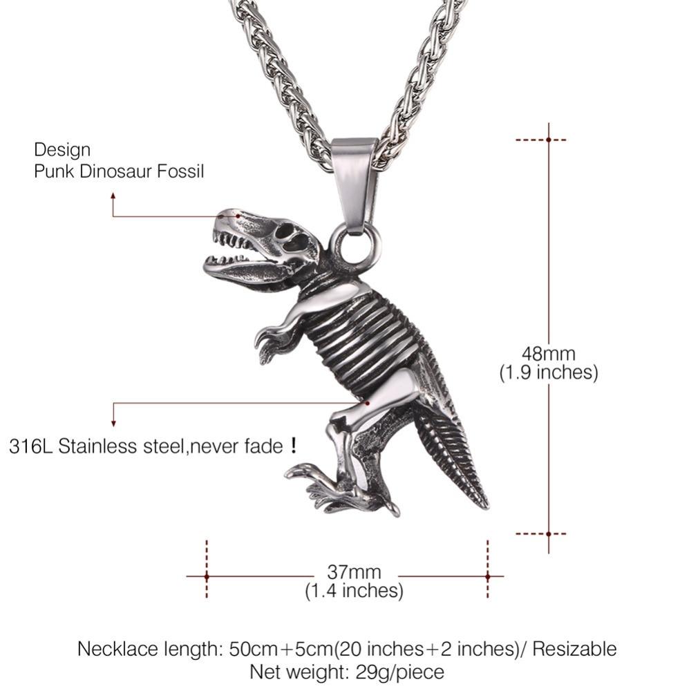 Whole Trusta New Fashion Gold Black Bronze Tone Jewelry Dinosaur Pendant 16 Short Necklace Birthday Gift For Sweet Heart Eg018 Silver