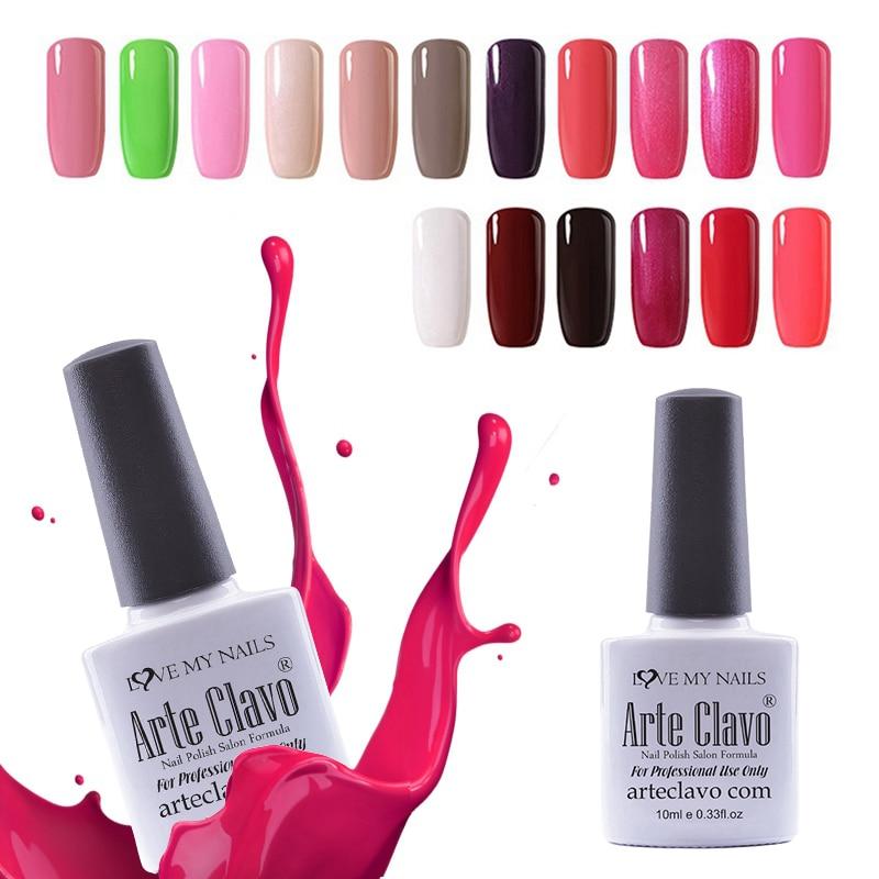 Arte Clavo Gel Nail Polish Lowest Price Choose Any 1 Color 10ml Soak ...