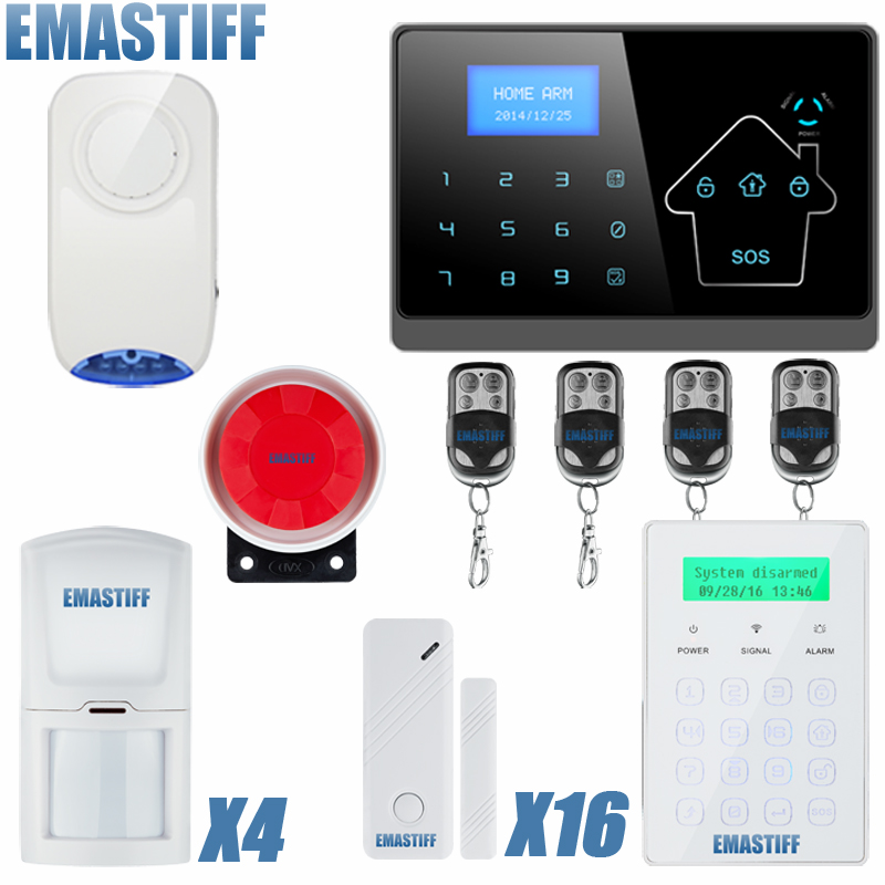 Quad Band Touch Keypad TFT Dislay Wireless GSM PSTN House Security Voice Burglar Alarm IOS Android APP Remote control ARM android ios app sensor dual network gsm pstn 2g sim call lcd smart dislay touch keypad home burglar security alarm