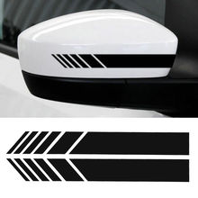 2pcs 15*3cm Car Rear View Side Mirror Body Stripe Vinyl Sticker Decal DIY Black Silver Orange Red White Yellow