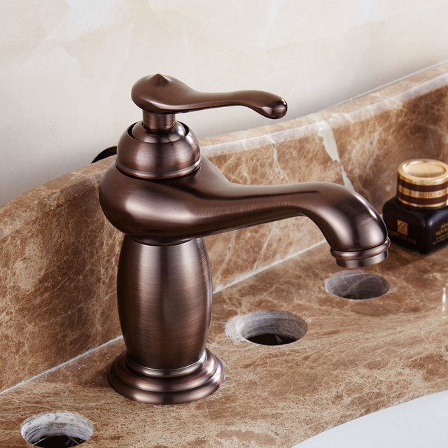 ORB Antique Brass Basin Faucet Aladdin Mixer Cold and Hot Kitchen ...