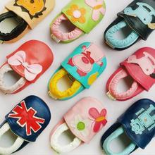 35 стильная новая нескользящая обувь для малышей с изображением животных, мягкие мокасины из натуральной кожи для маленьких мальчиков и девочек, для малышей, тапочки, лучший подарок