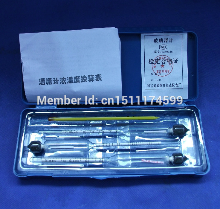 Glass float gauge densitometer alcohol liquid meter hydrometer with cheap price image