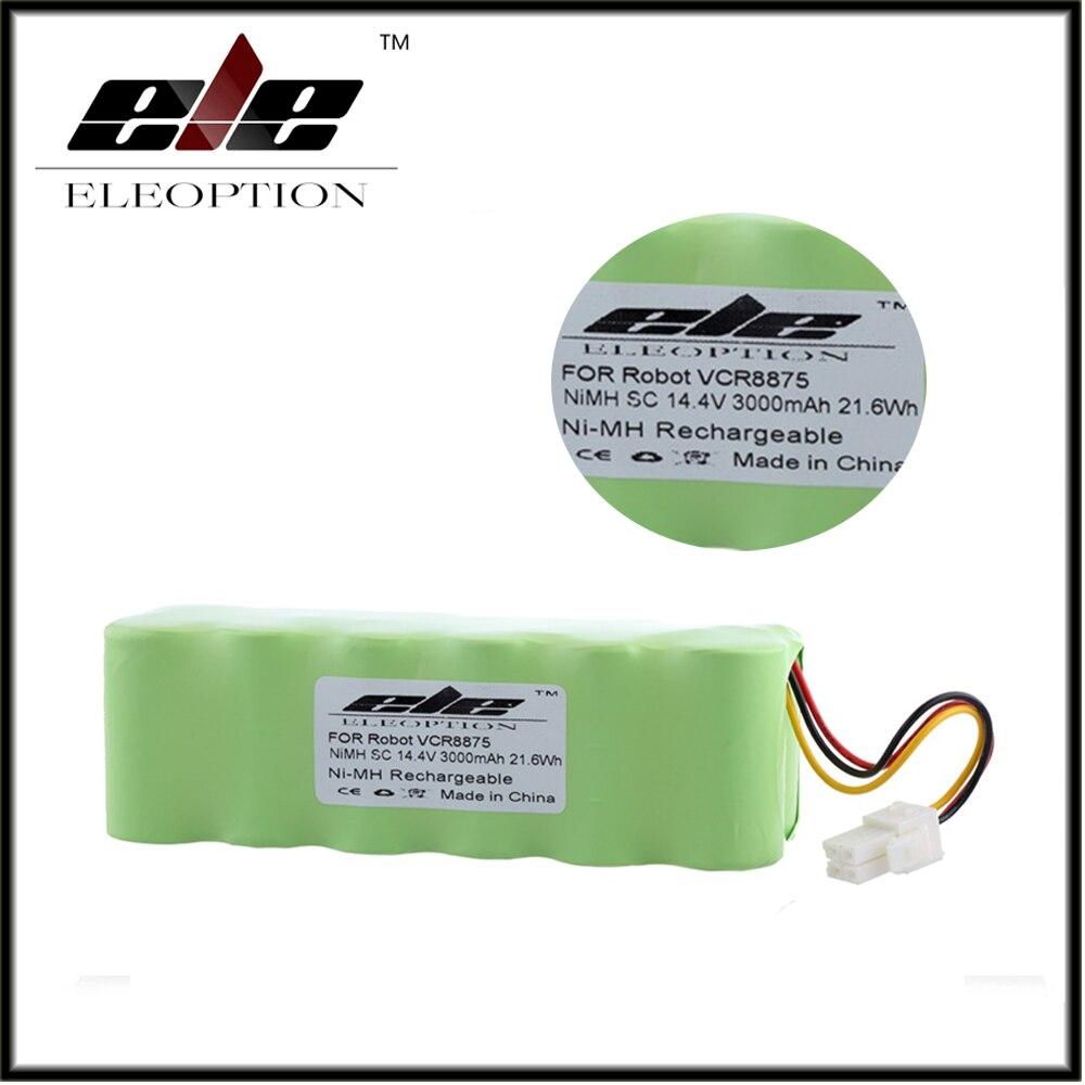 Haute Qualité ELEOPTION 14.4 v 3000 mah 3.0Ah Ni-MH Rechargeable Aspirateur Batterie Pour Samsung NAVIBOT VCR8875 14.4 Volts