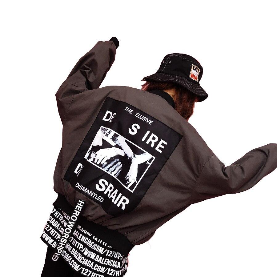 Harajuku surdimensionné Bomber veste femmes manteau ruban Streetwear Hip Hop Baseball veste lâche boléro coréen femmes vestes 50E0039