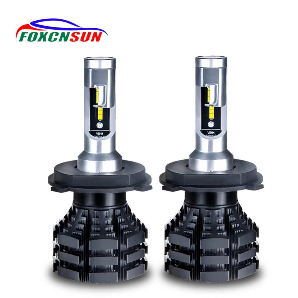 2Pcs 6500K 3200K 2200K 8000K 10000K 10000LM 1860 Chip H3 H4 LED H7 Car Headlight 50W H1 H11 H15 12V 9004 9007 9012 PSX24 PSX26