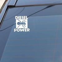 black silver YJZT 15CM*15CM DIESEL POWER Funny Vinyl Decals Car Sticker Black/Silver C3-1024 (5)