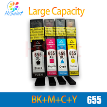 Hisaint совместимый принтер чернильные картриджи для hp 655 чернильный картридж для hp Deskjet Ink Advantage 3525/4615/4625/5525/6520/6525