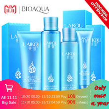 4 pcs LAIKOU Hyaluronic acid Moisturizing Face set Cleanser+Toner+Emulsion+Eye cream korean cosmetics facail care set(China)
