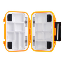 Promotion !! Fishing Tackle Boxes 115*80*35mm 110g Free Shipping 1pcs orange/black Small Clear Plastic bait hook Fishing box