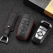 Puou кожаный чехол для ключей для ford mondeo ecoboost 34 Кнопка автомобильный чехол для пульта дистанционного управления G3