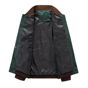 Image 5 - Mountainskin 4XL חדש גברים של מעילי סתיו צבאי גברים של מעילי אופנה מעילים מזדמנים רזים זכר הלבשה עליונה בייסבול אחיד SA461