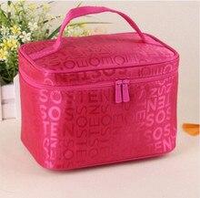 2016 women's brand J-Bg Pink cosmetic bag organizer ROSA large-capacity portable multifunctional cosmetic bag leisure bags