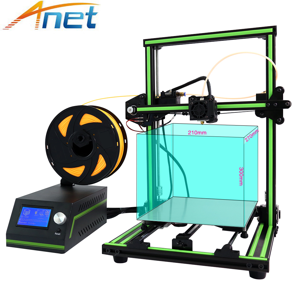 Newest ! Anet A6 A8 E10 3D Printer Large Printing Size Easy Assemble Precision Reprap i3 3D Printer Kit DIY With Free Filaments easy assemble anet a2 3d printer kit high precision reprap prusa i3 diy 3d printing machine hotbed filament sd card lcd