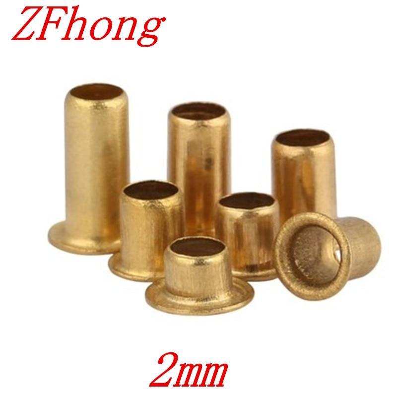 500pcs hollow rivet 2mm copper Hollow Rivet m2*2.5/3/3.5/4mm Brand Double-sided Circuit Board PCB vias nails gsfy coffret 10x 0 3 1 2mm pcb petit foret fraises a circuit imprime percage perceuse