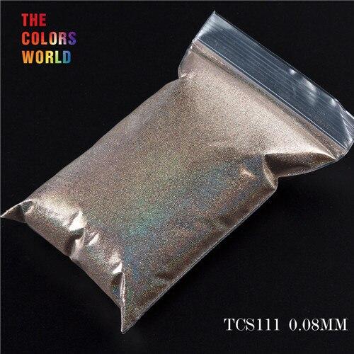 TCT-070 голографическая цветная устойчивая к растворению блестящая пудра для дизайна ногтей Гель-лак для ногтей тени для макияжа - Цвет: TCS111  50g