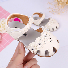 2019 Summer Baby Girl Shoes Pincess Flower Dress Sandals Girls Soft Bottom Anti-slip Beach
