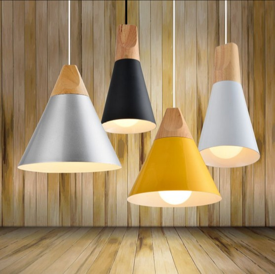 Nordic Simple Aluminum Wood Art Droplight Modern LED Pendant Light Fixtures For Living Dining Room Hanging Lamp Indoor Lighting nordic simple iron droplight modern led pendant light fixtures for living dining room hanging lamp indoor lighting lampara